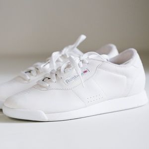 90s White Classic Reebok Princess Leather Sneakers
